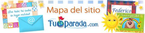 Mapa del sitio Tu Parada, índice y secciones