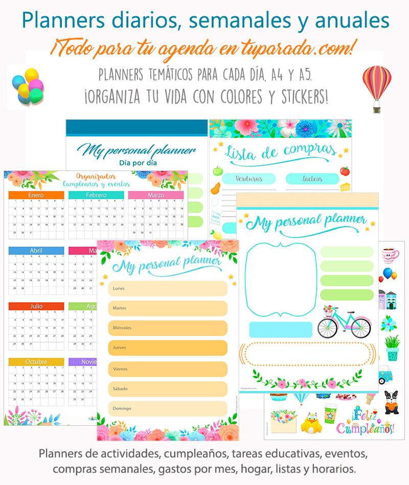 Calendarios y organizadores