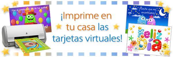Impresión de tarjetas virtuales